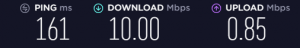 Laptop WIFI Speed test