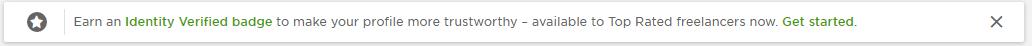 Upwork's Identity Verified Badge